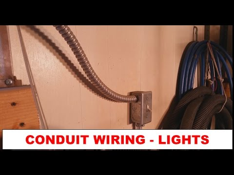 DIY - How To: Simple Wiring Light Addition in Conduit - Power through Lights to Switch - Pt. 1