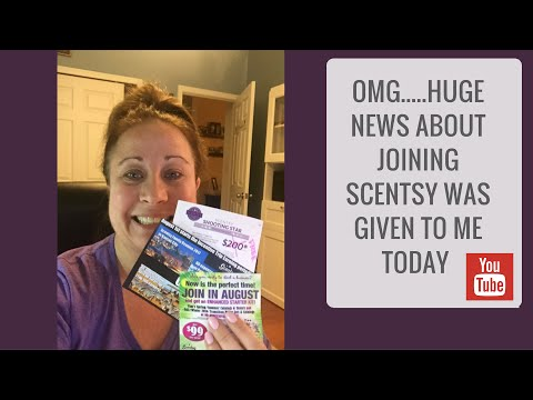 HUGE News about joining Scentsy was given to me Today - So Exciting!