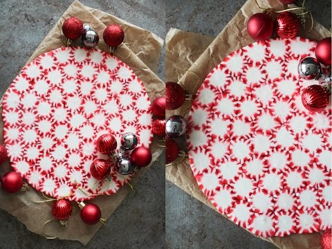 How To Make A Peppermint Christmas Serving Plate - By One Kitchen Episode 688