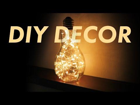 Easy DIY Light Bulb Shaped Lamp