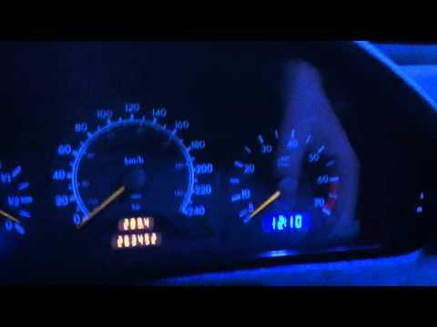 Mercedes Benz W202 blue LED dash lights