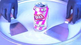 Ice Cream Rolls | BARR American Cream Soda - rolled Soft Drink Ice Cream / Fried Thailand Ice Cream