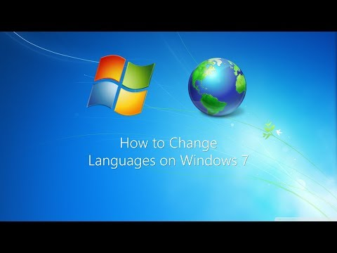 Tutorial: How to change languages on Windows 7