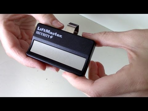 How to change the battery on Garage Door Remote [ LiftMaster Security Chamberlain opener]