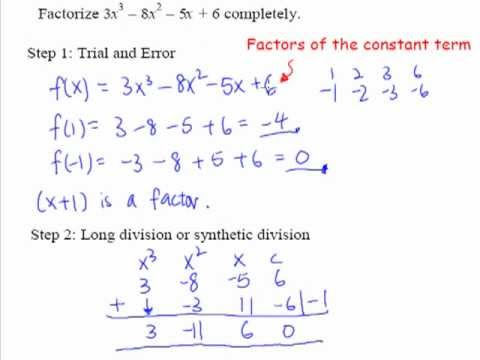 16  Factorization of cubic expressions   with example