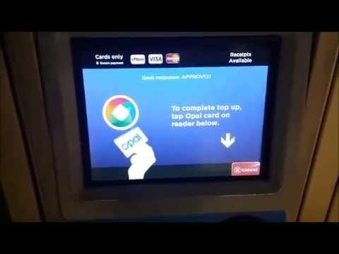 Opal Card Top Up Point Machine