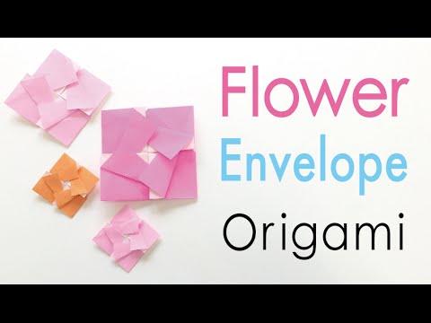 Origami Paper Square Flower Letter Envelope ✨simple✨- Origami Kawaii〔#151〕