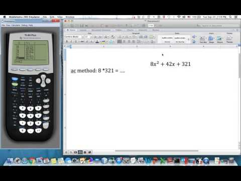 Factoring with TI 84 special case