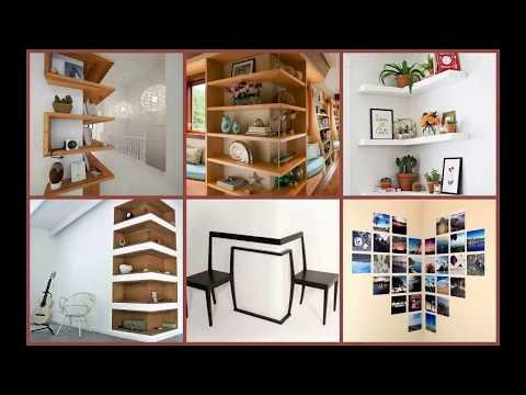 Corner Wall Decor Ideas DIY 2018   Framing Cabinet Hanging Mount TV Installation Run Craft Aesthetic