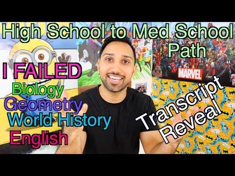 My High School to Med School Path I High School Transcript Reveal