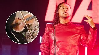 What did violins add to Shinsuke Nakamura