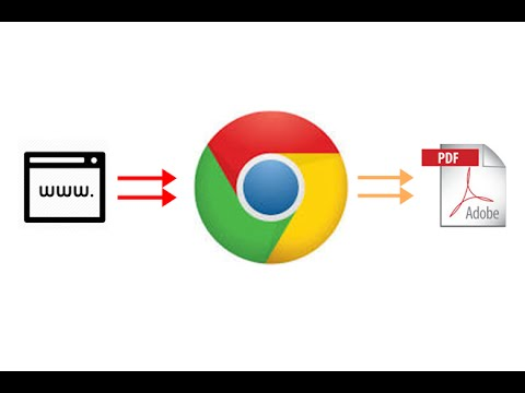 How to save webpage to pdf document using Google chrome ?