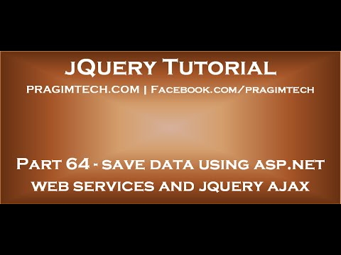 Save data using asp net web services and jquery ajax