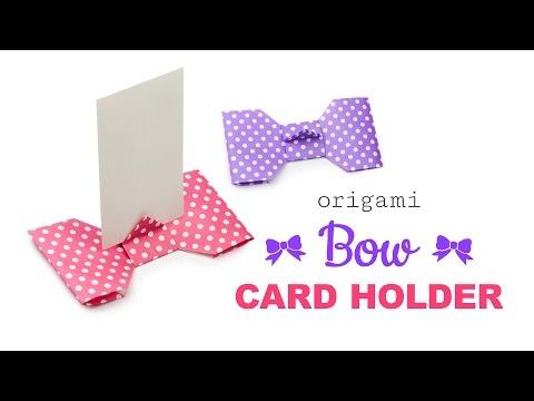 Origami Bow Shaped Card Holder Tutorial - Modular ♥︎ DIY ♥︎ Paper Kawaii