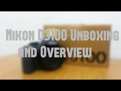 Nikon D3100 The best youtube beginners DSLR.Unboxing and Overview.