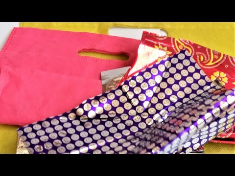 Best reuse idea of gift wrapping paper and fabric carry bags | Best out of waste