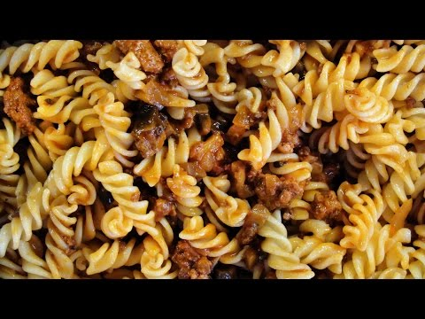 How to make Pasta with mince and mushrooms