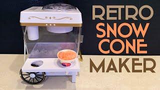 Nostalgia Snow Cone Maker Review: Make Snow Cones at Home