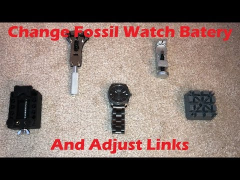 Tutorial: Change Fossil Watch Battery and Adjust Links