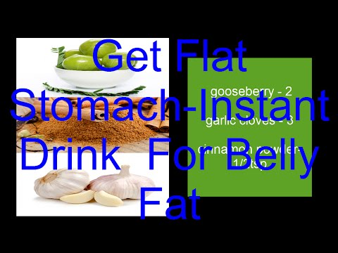 Get Flat Stomach in 2 weeks Without Dieting or Exercise - Instant Belly Fat Burner Drink