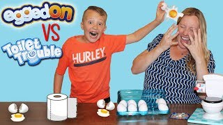 Download Toilet Trouble VS Egged On Challenge || Family Fun Pack Game Night Parent Edition Video