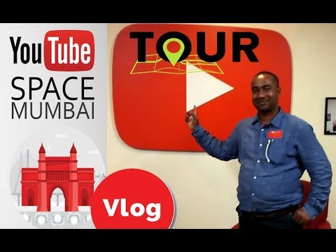 Vlog # My 1st YouTube Space Mumbai Visit - Tour of Office, Workshop,Reception, Recording Room etc