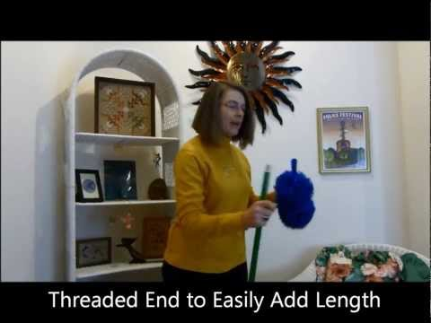 How to Use Fluffy Microfiber Duster by Cleans Green   Best Available for Cobwebs, Dusting, Cleaning
