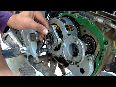 How to change clutch plates of karizma at home