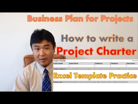 How to write a Project Charter - Business Plan for Projects 【Excel Template】 (Lean Six Sigma)