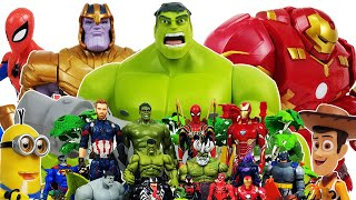 Hulkbuster, Avengers Go~! Hulk, Spider-Man, Iron Man, Captain America, Minions, Venom, Ralph