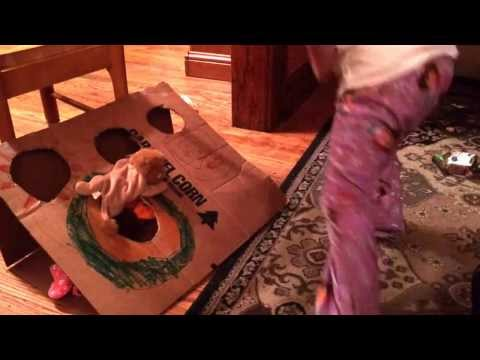 Cub Scout Wolf Book Bean Bag Toss Game Homemade Fun on a boring day