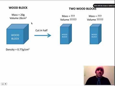 Density if you cut an object in half