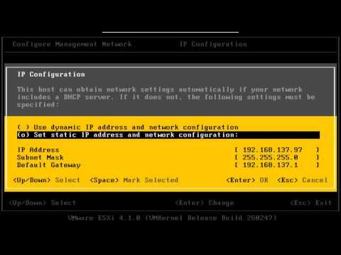 Configuring VMware ESXi 4.1.0