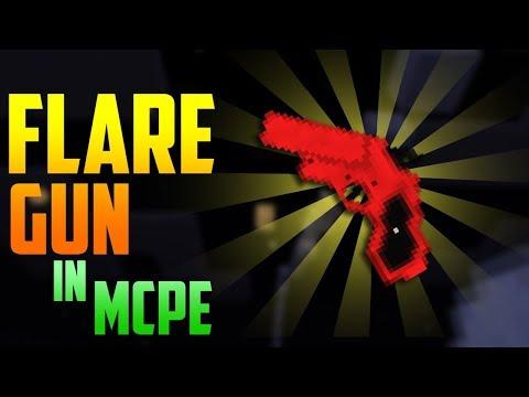 FLARE GUN Tutorial - Minecraft PE Command Blocks