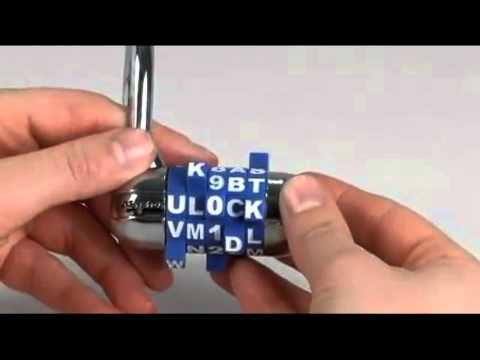 Master Lock Word Dial Set-Your-Own-Combination Padlock from 101geo