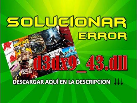 SOLUCIONAR ERROR d3dx9_43.dll  Problemas en videojuegos (MEGA)