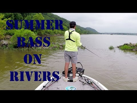 Summer River Bass Fishing Tactics- Grass and Jetties