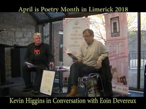 Poet Kevin Higgins in conversation with prof Eoin Devereux
