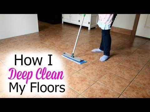 How I wash My Floors- Deep Cleaning Floors