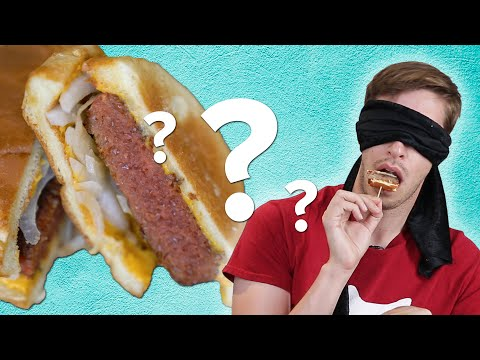 Blindfolded Meatlovers Guess Vegan Foods