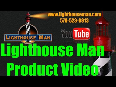 Lighthouse Man - Lawn Ornaments Product Video