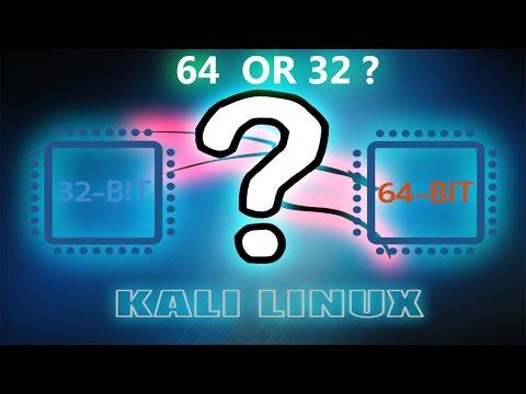 32 bit or 64 bit?|KALI LINUX SYSTEM INFO|2017
