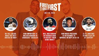 First Things First audio podcast (7.15.19)Cris Carter, Nick Wright, Jenna Wolfe | FIRST THINGS FIRST