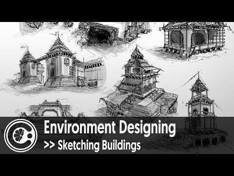 Environment Designing - Sketching Buildings
