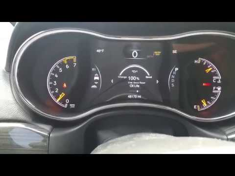 How to Reset Oil Life Change Indicator Jeep Grand Cherokee WK2