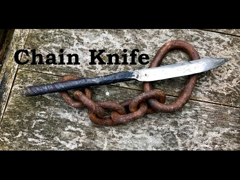Forging a Knife from a Chain Link