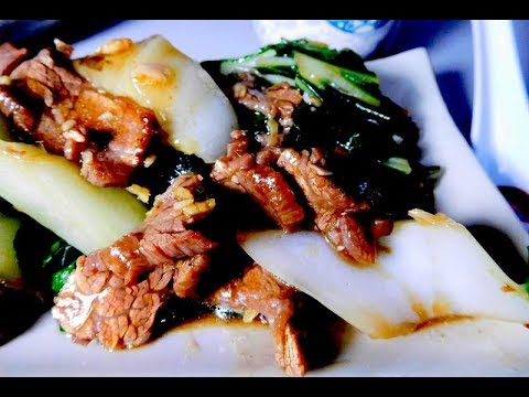 Beef Flank Bok Choy Stir Fry Cantonese Cooking