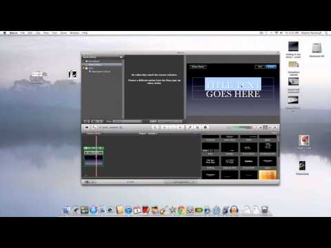 How to make a Lyric Video using imovie (tutorial)