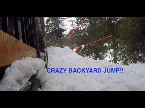 INSANE BACKYARD SKI JUMP!!!!