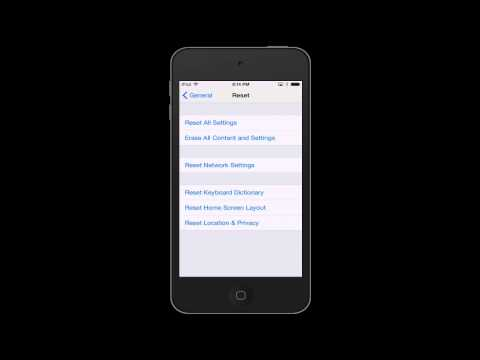 Resetting Network Settings on iOS Device